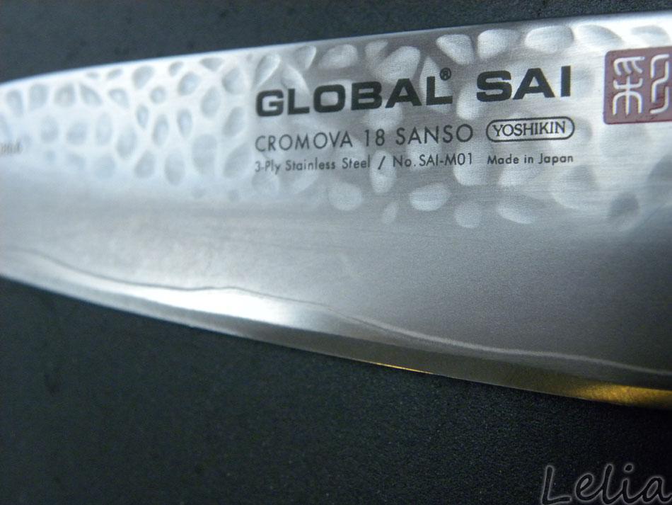 Das Global Sai Kochmesser im Hammerdesign